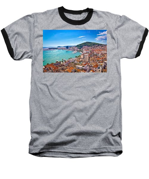 Split Waterfront And Marjan Hill View Baseball T-Shirt