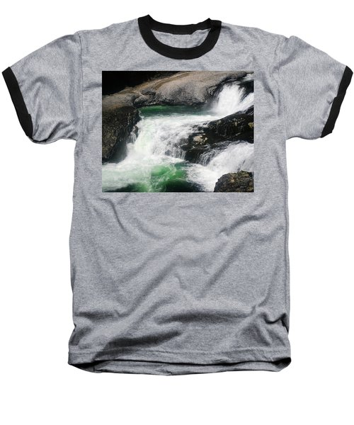 Spokane Water Fall Baseball T-Shirt by Anthony Jones