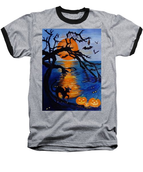 Spooky Hollow - Painting Baseball T-Shirt