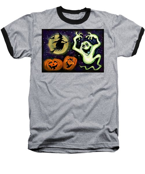 Baseball T-Shirt featuring the painting Spooky by Kevin Middleton