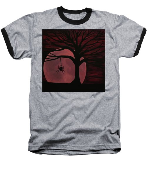 Spooky Spider Tree Baseball T-Shirt