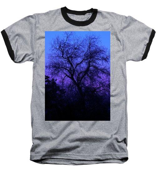 Spooky Tree Baseball T-Shirt by Paul Marto