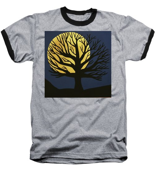 Spooky Tree Yellow Baseball T-Shirt