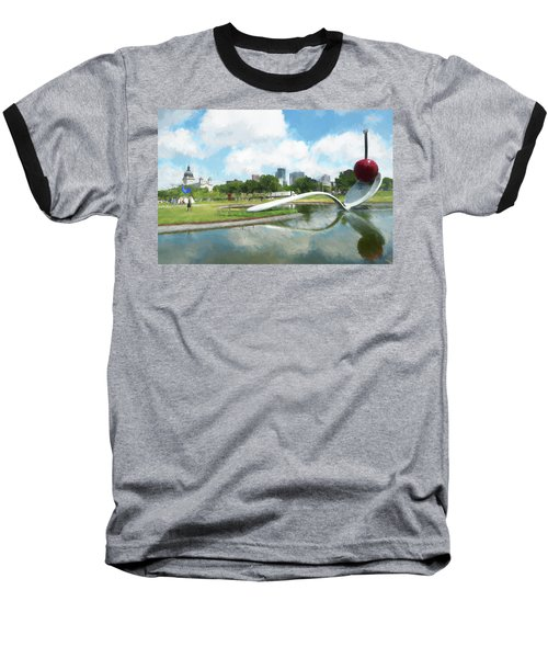 Spoon And Cherry Baseball T-Shirt