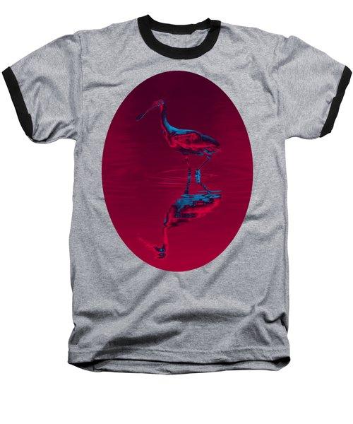 Spoonbill Abstract Decor Baseball T-Shirt
