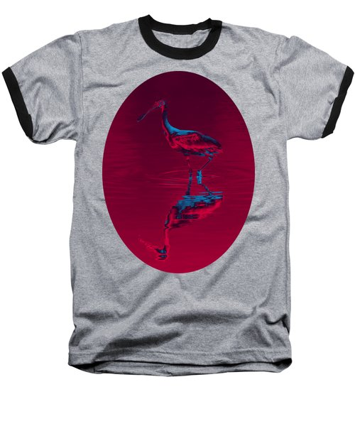 Spoonbill Abstract Decor Baseball T-Shirt