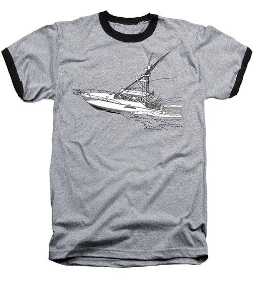 Sportfish Yacht Custom Tee Shirt Baseball T-Shirt by Jack Pumphrey