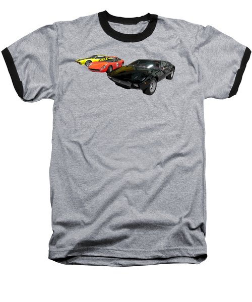 Sports Car In A Row Art Baseball T-Shirt