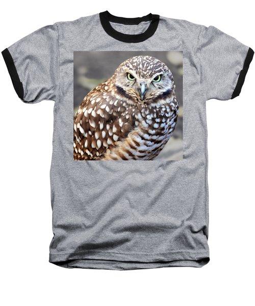 Spots - Burrowing Owl Baseball T-Shirt