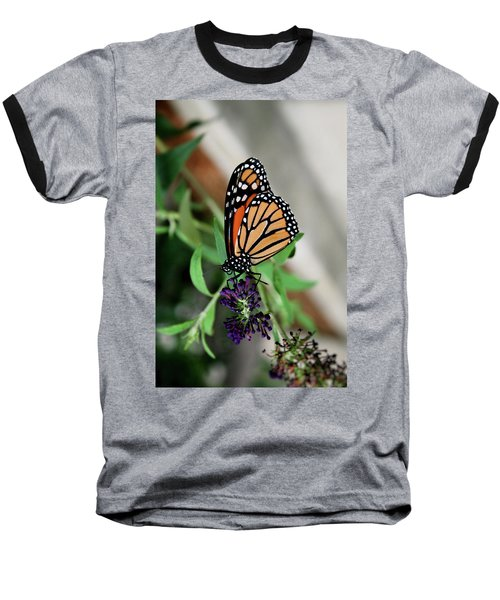 Baseball T-Shirt featuring the photograph Spotted Butterfly by Cathy Harper