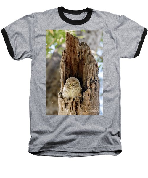 Spotted Owlet Baseball T-Shirt
