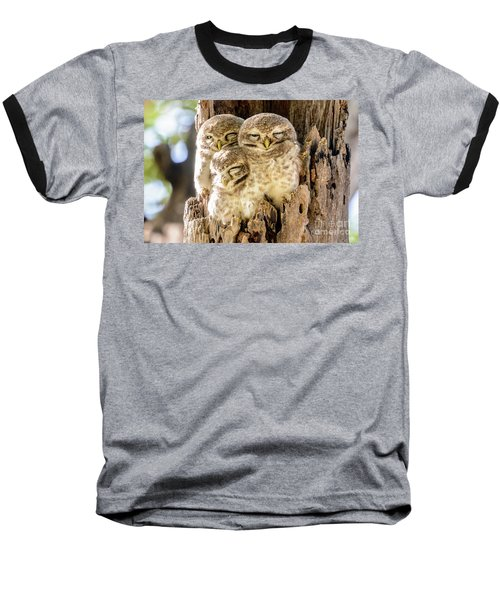 Spotted Owlets Baseball T-Shirt