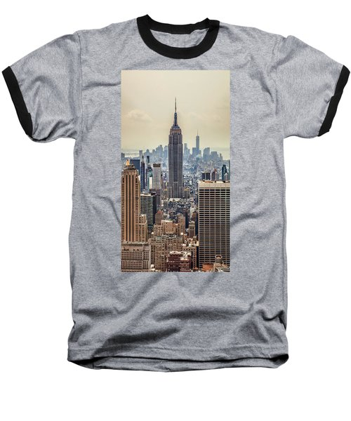 Sprawling Urban Jungle Baseball T-Shirt by Az Jackson