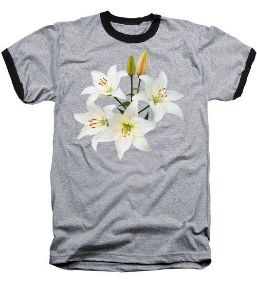 Baseball T-Shirt featuring the photograph Spray Of White Lilies by Jane McIlroy