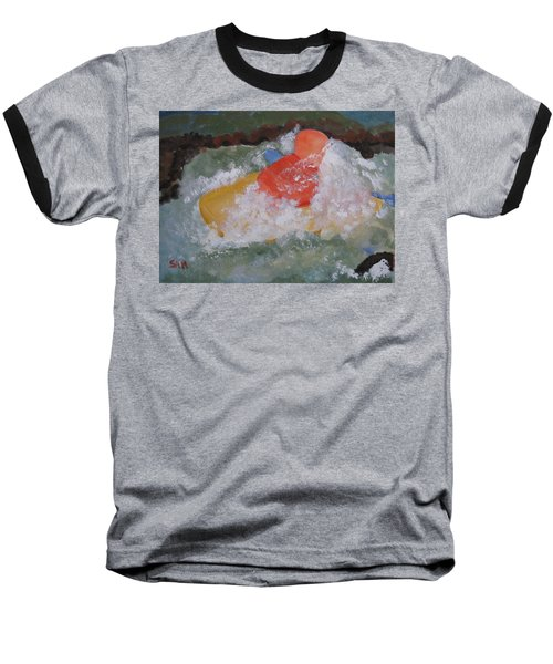 Baseball T-Shirt featuring the painting Spray by Sandy McIntire