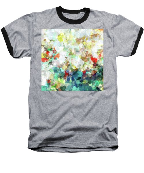 Spring Abstract Art / Vivid Colors Baseball T-Shirt by Ayse Deniz