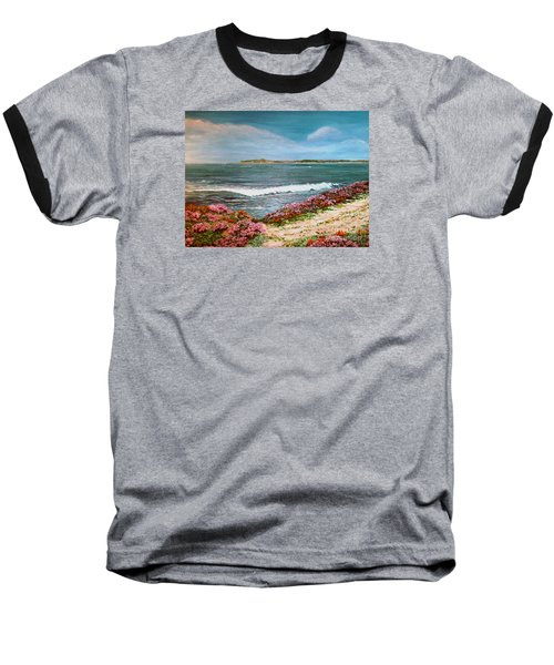 Baseball T-Shirt featuring the painting Spring At Half Moon Bay by Dee Davis