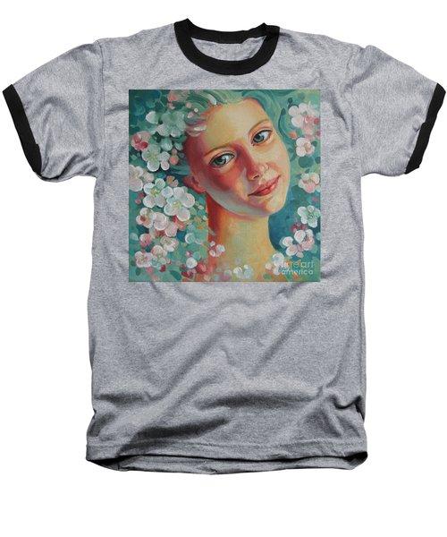 Spring B Baseball T-Shirt by Elena Oleniuc