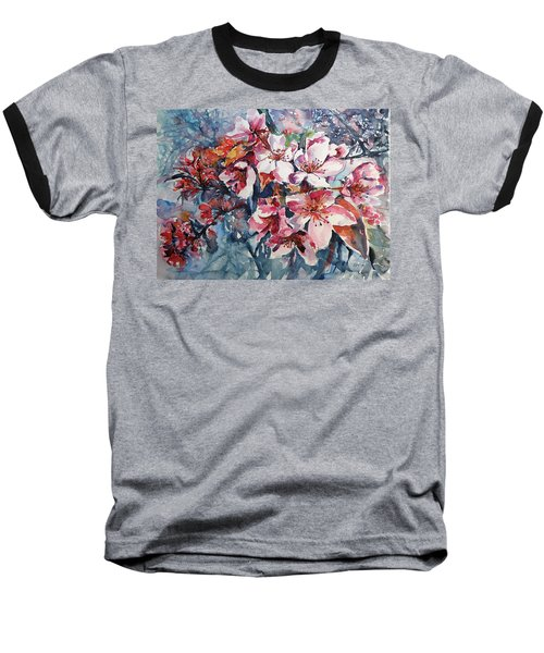 Baseball T-Shirt featuring the painting Spring Beauty by Kovacs Anna Brigitta