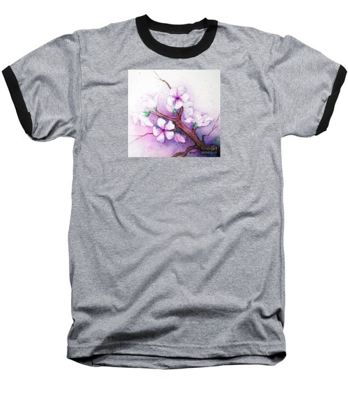 Spring Blooms Baseball T-Shirt by Rebecca Davis