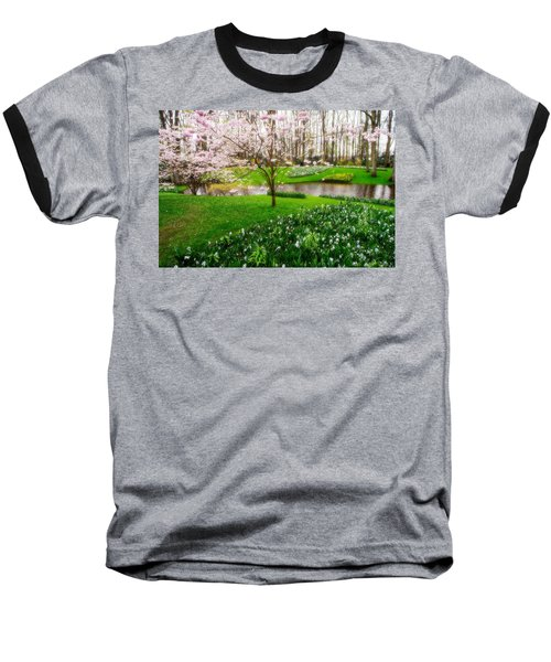 Baseball T-Shirt featuring the photograph Spring Blossom In Keukenhof Garden by Jenny Rainbow