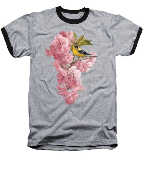 Spring Blossoms Baseball T-Shirt by Lucie Bilodeau