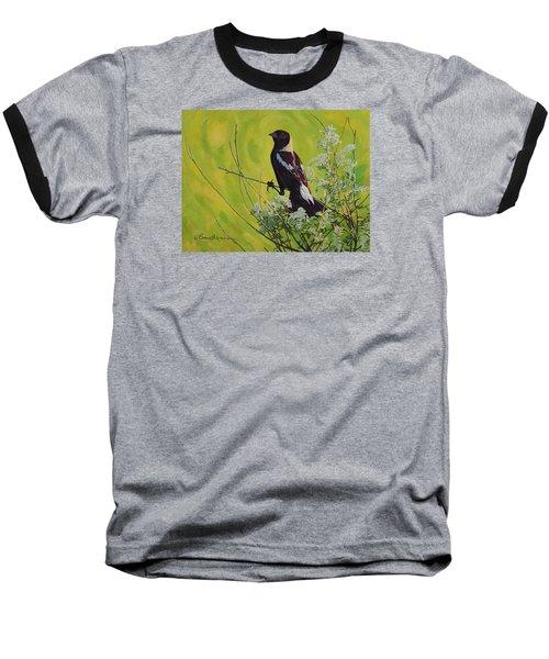 Spring Bobolink Baseball T-Shirt by Bruce Morrison