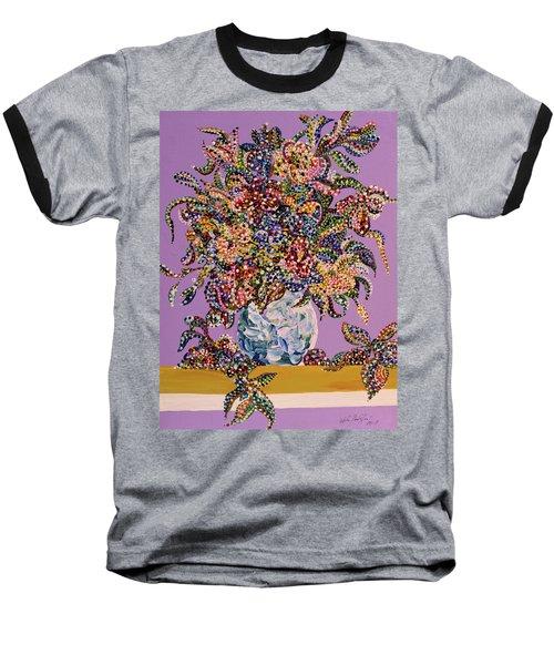 Spring Bouquet  Baseball T-Shirt by Erika Pochybova