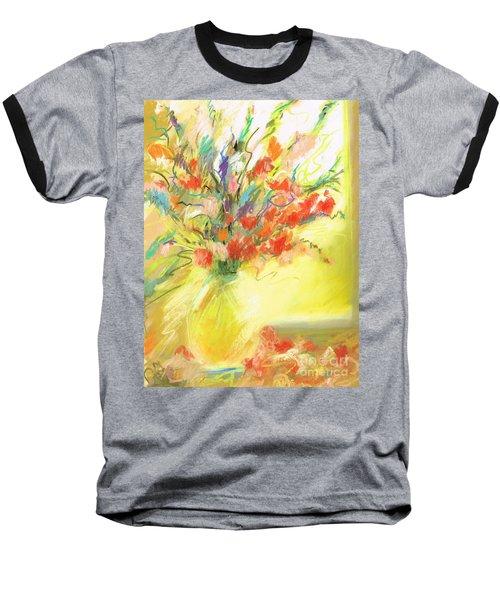 Spring Bouquet Baseball T-Shirt by Frances Marino