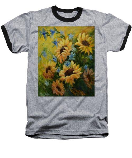 Sunflowers Galore Baseball T-Shirt