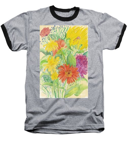 Baseball T-Shirt featuring the painting Spring Bouquet  by Vicki  Housel