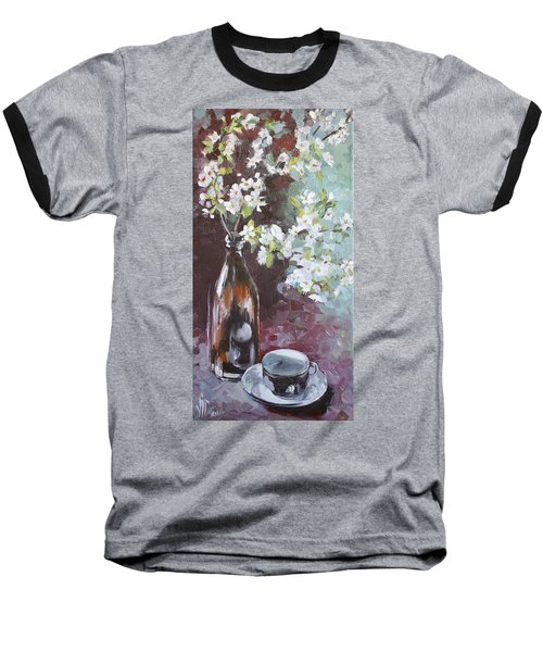 Spring Breakfast Baseball T-Shirt by Vali Irina Ciobanu