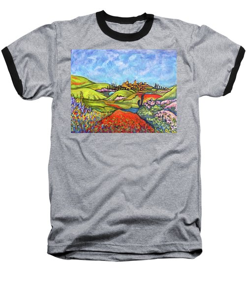 Baseball T-Shirt featuring the painting Spring Breeze by Rae Chichilnitsky