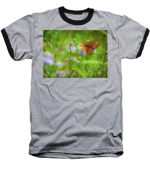 Spring Butterfly Baseball T-Shirt