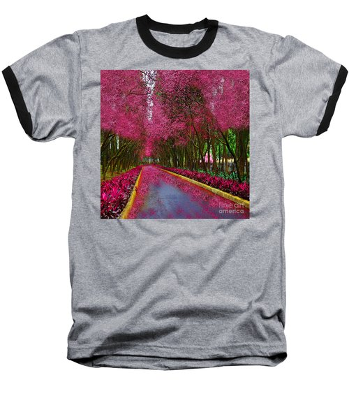 Spring Cherry Blossoms Baseball T-Shirt by Saundra Myles