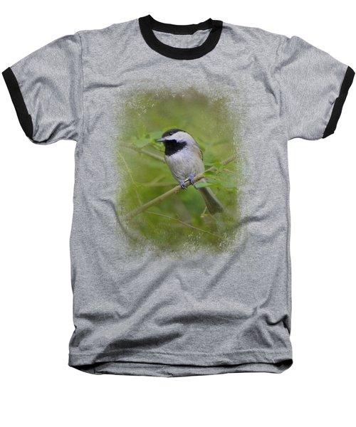 Spring Chickadee Baseball T-Shirt by Jai Johnson
