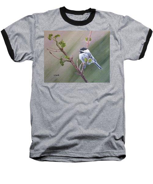 Spring Chickadee Baseball T-Shirt