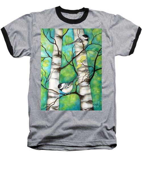 Spring Chickadees Baseball T-Shirt