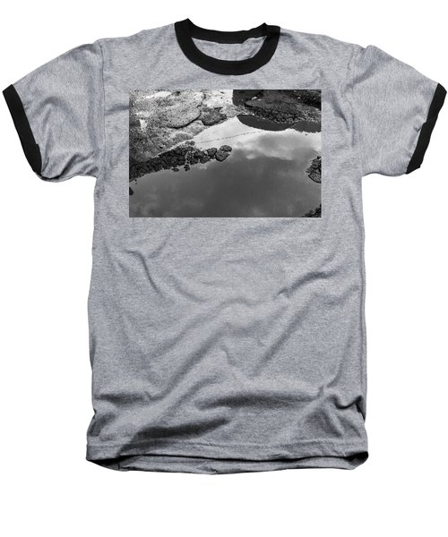 Spring Clouds Puddle Reflection Baseball T-Shirt