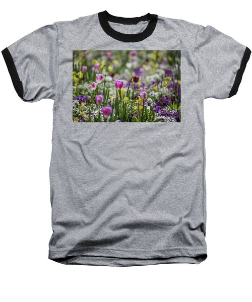 Spring Colors Baseball T-Shirt by Eva Lechner