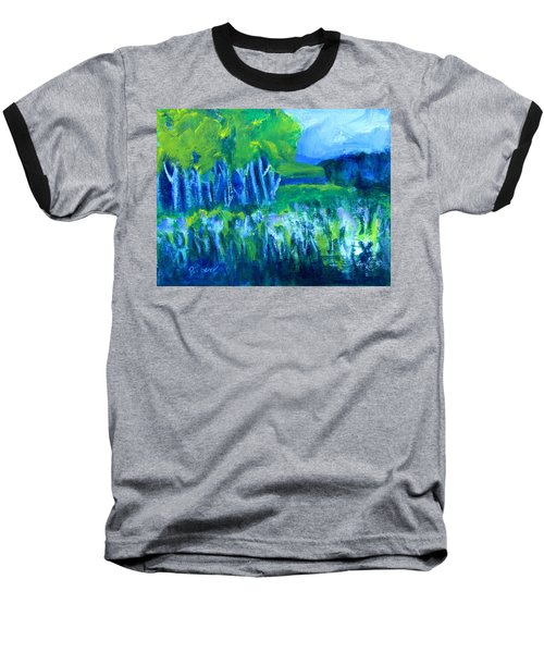 Baseball T-Shirt featuring the painting Spring Coming by Betty Pieper