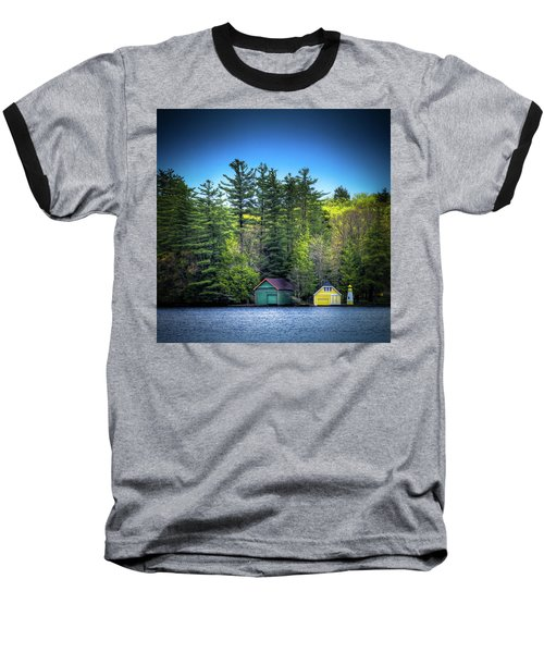 Spring Day At Old Forge Pond Baseball T-Shirt by David Patterson