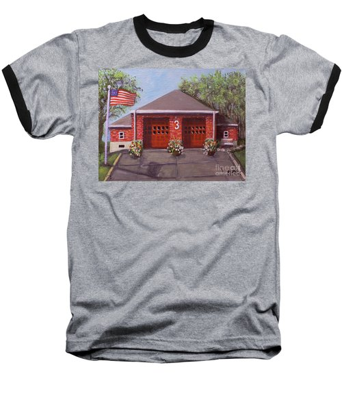 Spring Day At Willow Fire House Baseball T-Shirt by Rita Brown