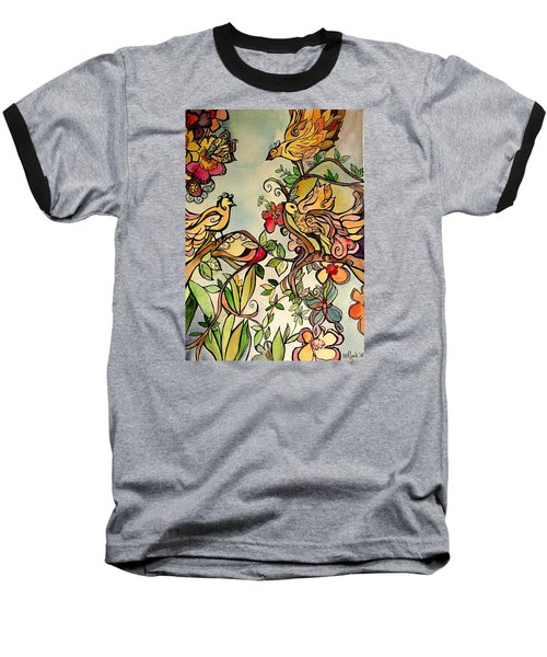 Spring Day Baseball T-Shirt by Claudia Cole Meek