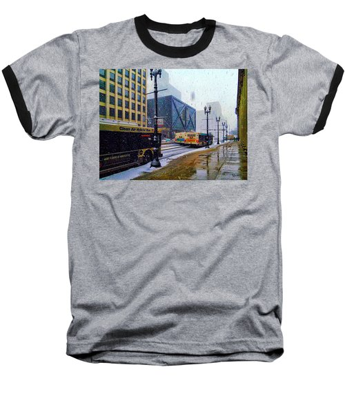 Spring Day In Chicago Baseball T-Shirt by Dave Luebbert