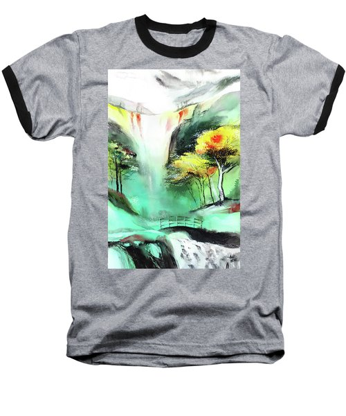 Baseball T-Shirt featuring the painting Spring Fall by Anil Nene