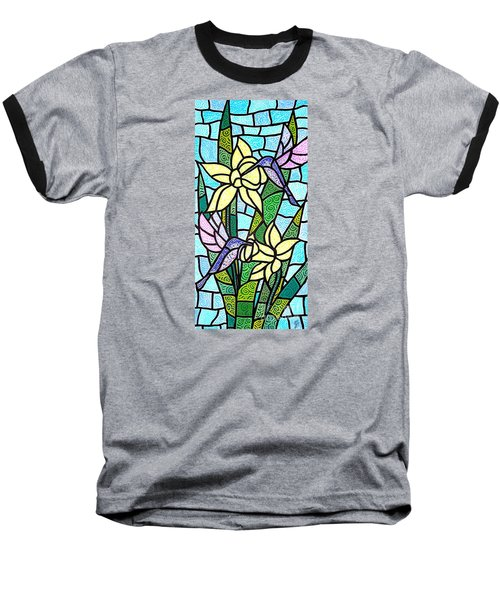 Baseball T-Shirt featuring the painting Spring Fling by Jim Harris