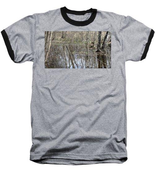Spring Flood Baseball T-Shirt by Anna Yurasovsky