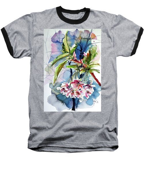 Baseball T-Shirt featuring the painting Spring Flower by Kovacs Anna Brigitta