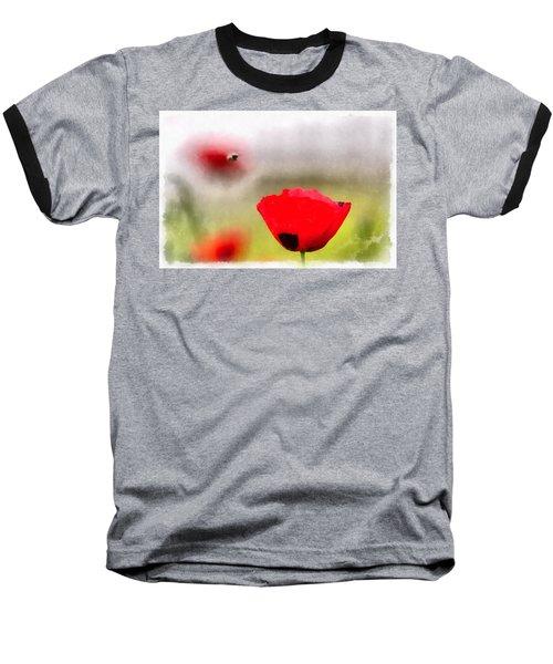 Spring Flowering Poppies Baseball T-Shirt